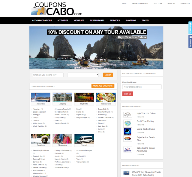 Coupons Cabo Mexico