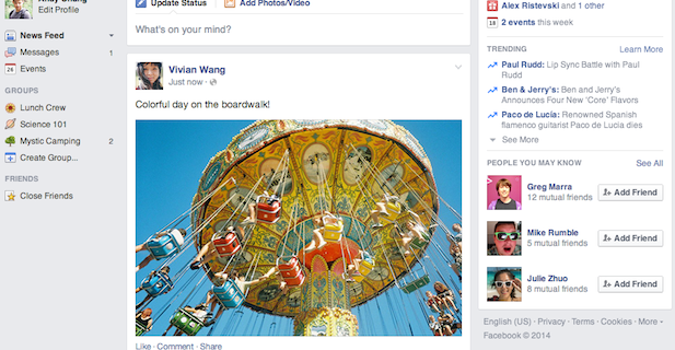 Nuevo tamaño de imágenes para Facebook 2014